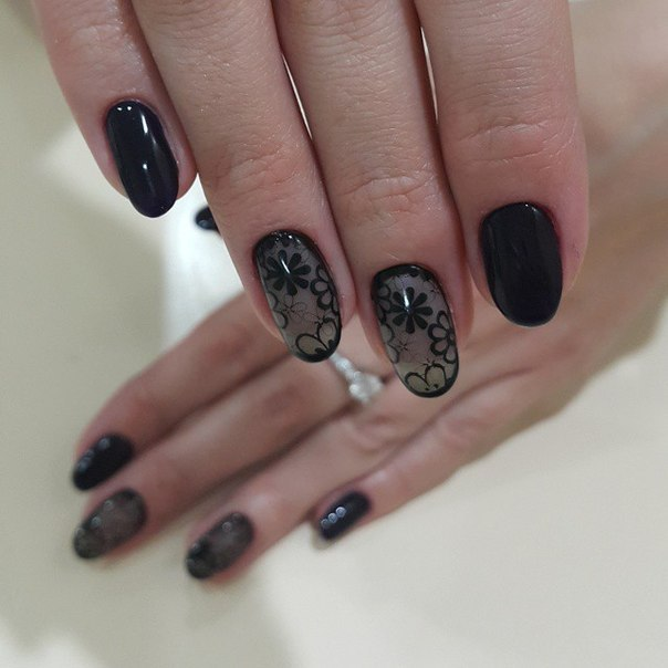 Дизайн ногтей как колготки